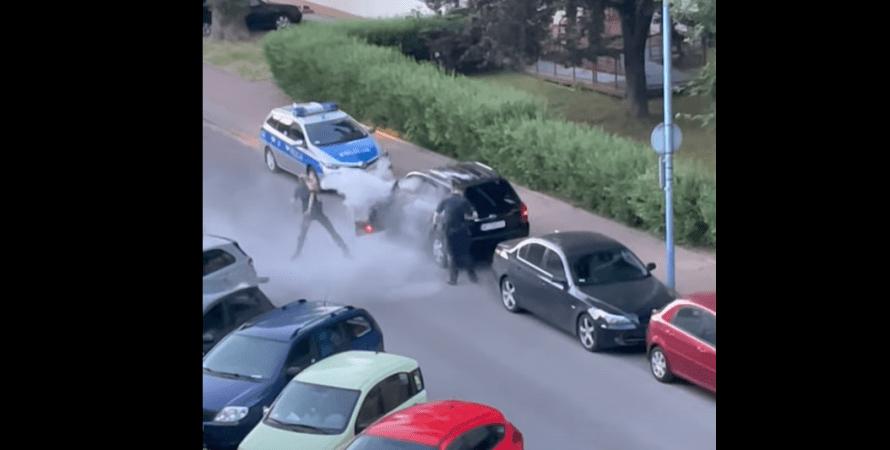 затримання, польща, українець, автомобіль, фото