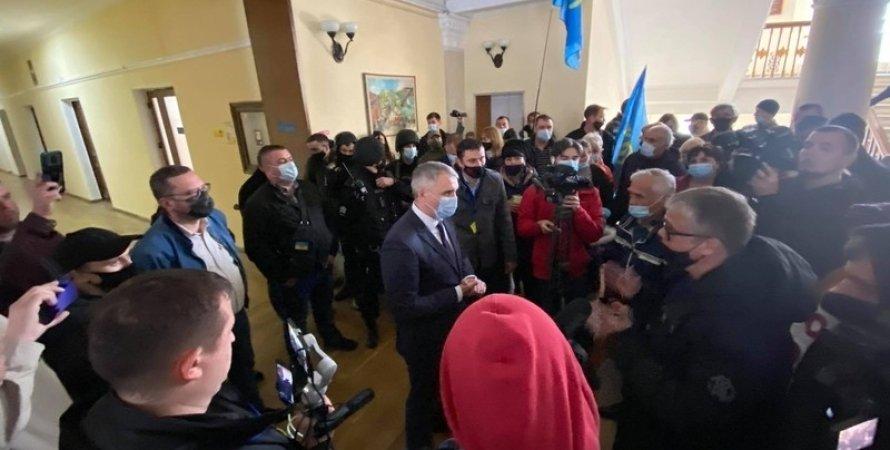 Мер Миколаєва, Олександр Сенкевич, мітинг