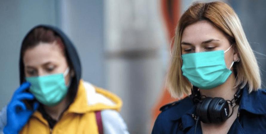 карантин в Україні, люди в масках
