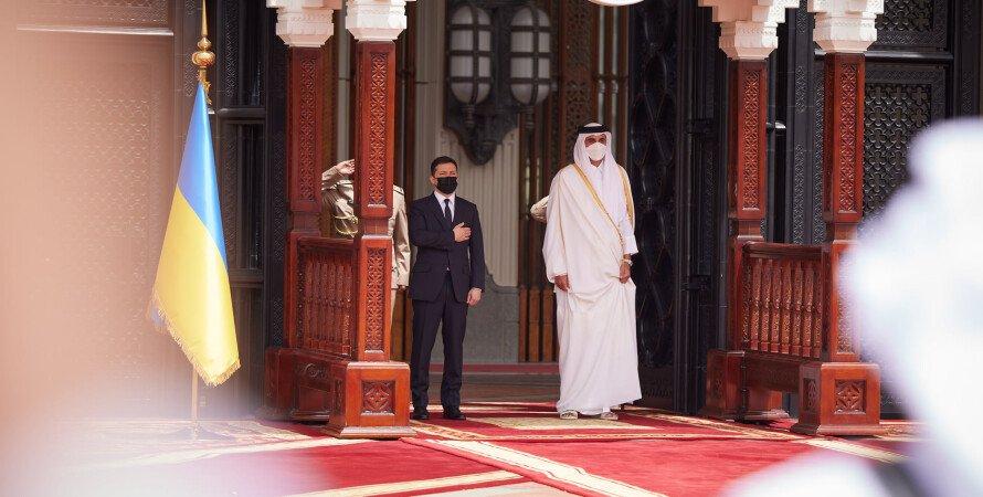 визит зеленского в катар, катар на встрече с эмиратом катара