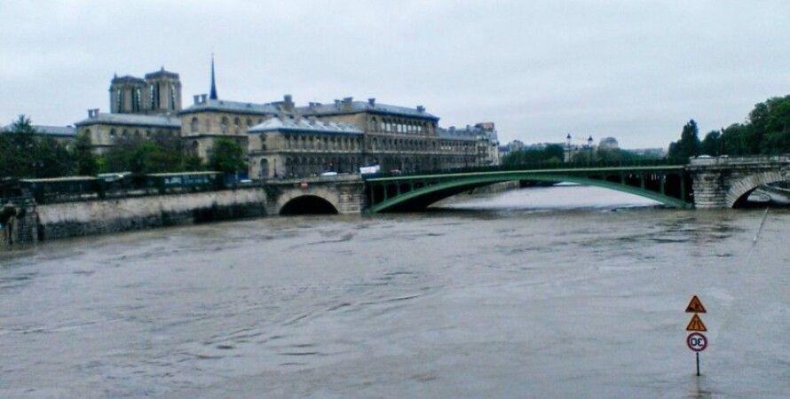 Наводнение в Париже / Фото: Twitter