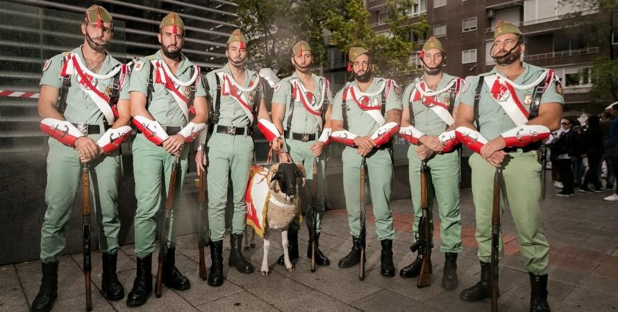 испанский легион, легионеры, коза