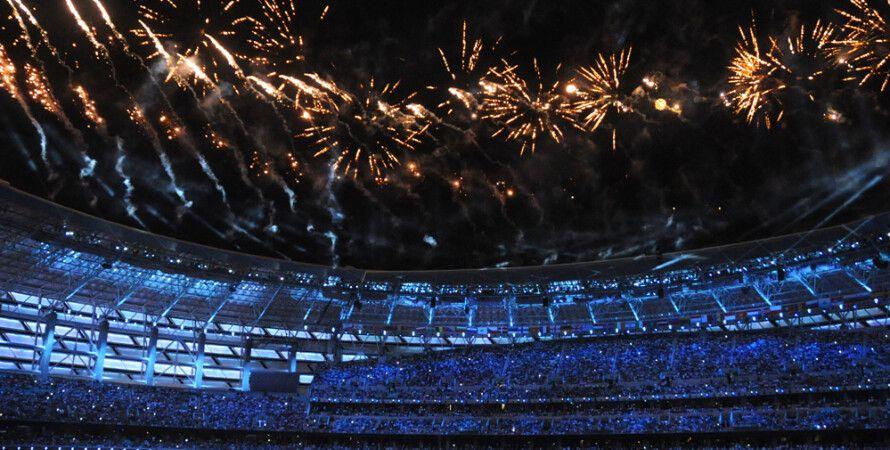 Салют после церемонии открытия / Фото: Trend.az