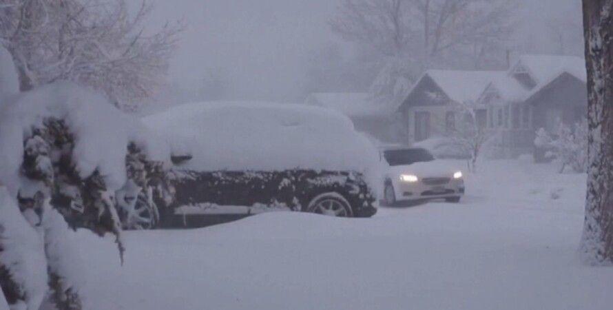 США, непогода, снегопады, снежный шторм,