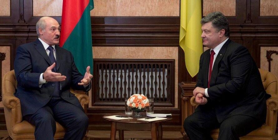 Александр Лукашенко и Петр Порошенко / Фото: пресс-служба президента Украины