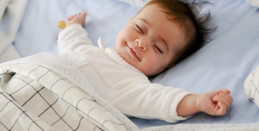 ребенок, кровать, постель, фото