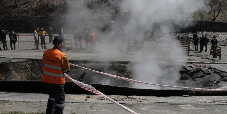 Ремонт дороги в Киеве / Фото: Игорь Добровольский