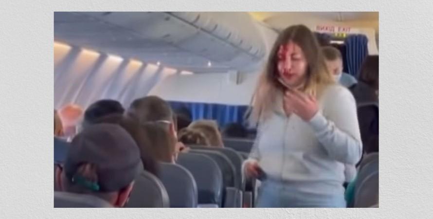 самолет, Анталия, Запорожье, пассажиры, драка, видео,
