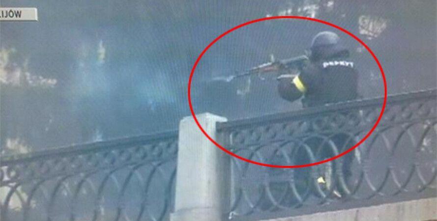 Телекадр событий 20 февраля в Киеве