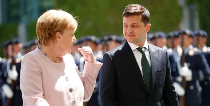 Зеленський, Меркель, переговори,