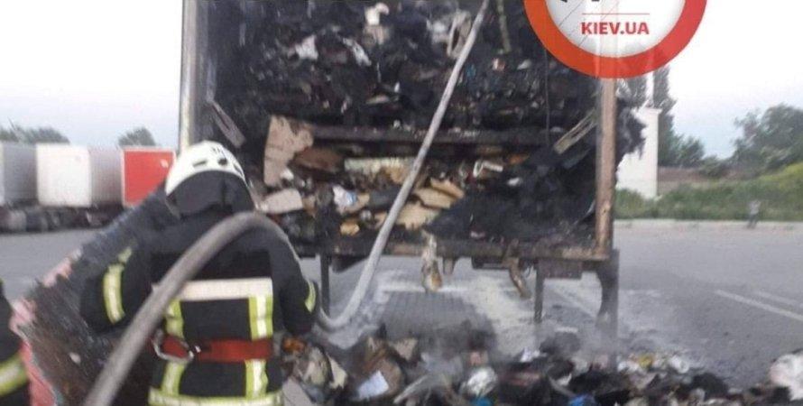 Київ, пожежа, Нова пошта