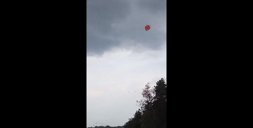 парашутист, НП з парашутистом, порятунок парашутиста в Києві