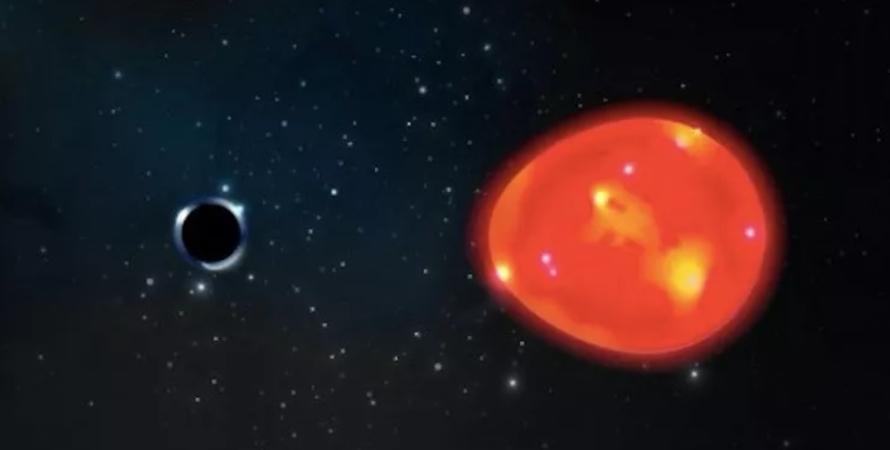 чорна діра, єдиноріг, зірка, червоний гігант