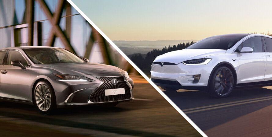 Lexus и Tesla, рейтинг авто, надежность автомобилей, рейтинг J.D. Power