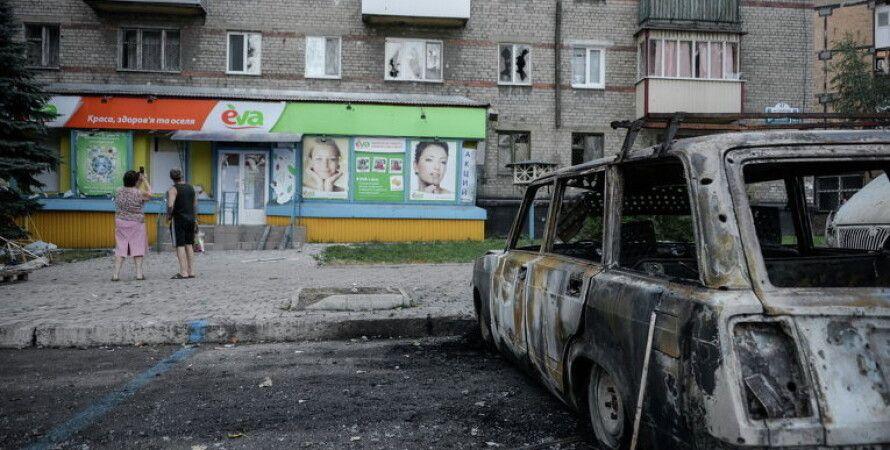 Донецк после обстрела / Фото: rian.com.ua