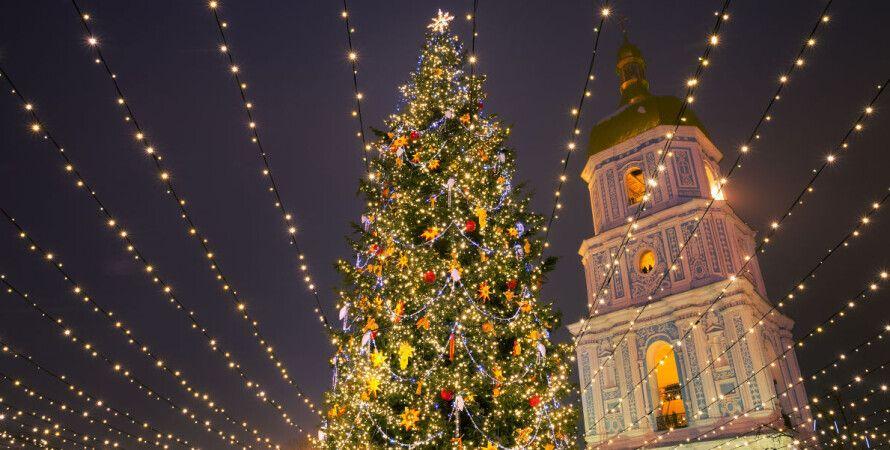 киев, елка, софийская площадь, новогодняя елка, арт-объект, демонтаж