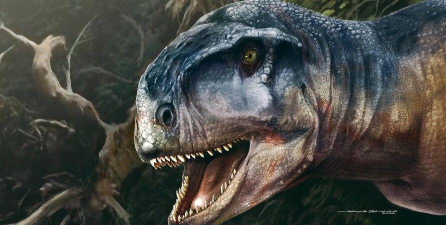 Llukalkan aliocranianus, динозав, лес, фото, хищник