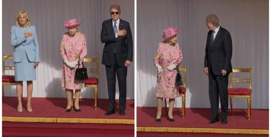 Джо Байден, королева Елизавета II, встреча Байдена и Елизаветы II