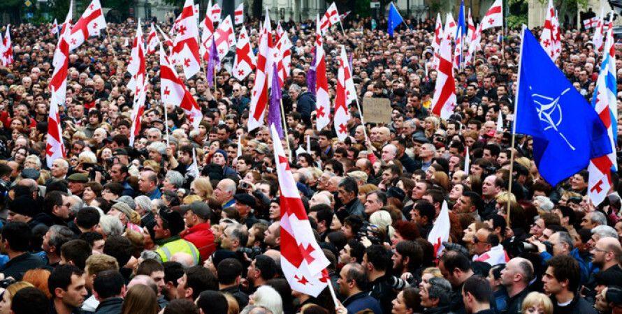 Митинг в Тбилиси / Фото: Azcongress.ru