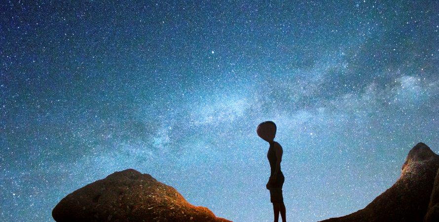 прибулець, мис, небо, зірки, фото