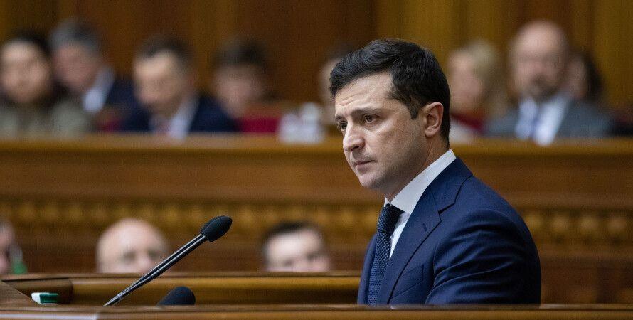 Владимир Зеленский, президент, трибуна