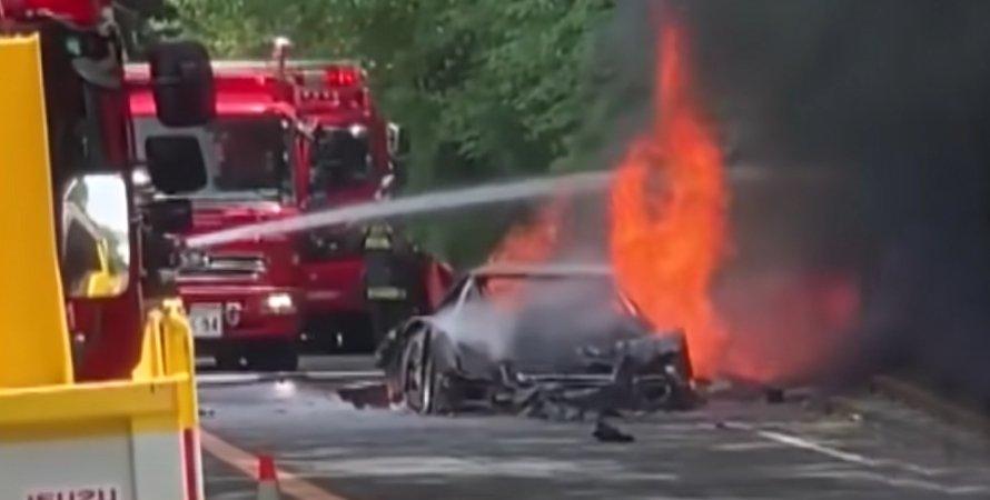 Ferrari F40 сгорел
