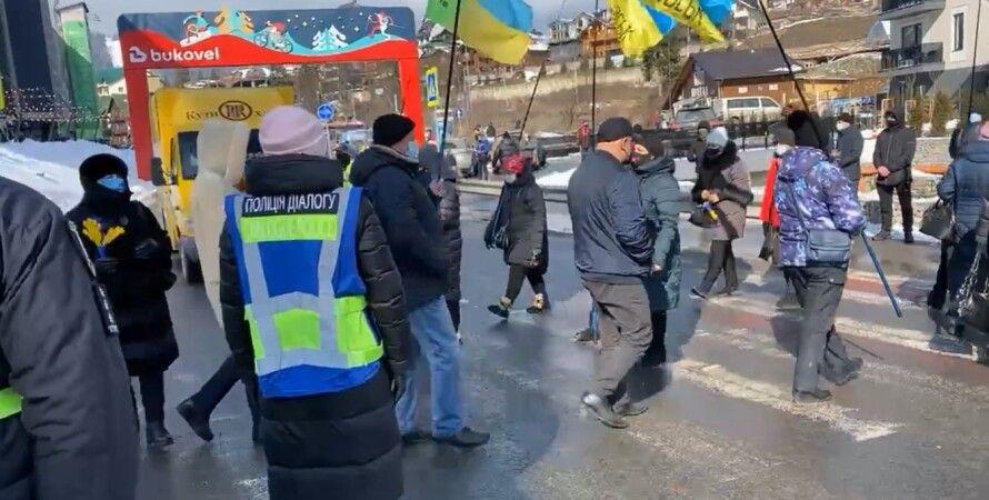 Буковель, акція протесту, підприємці