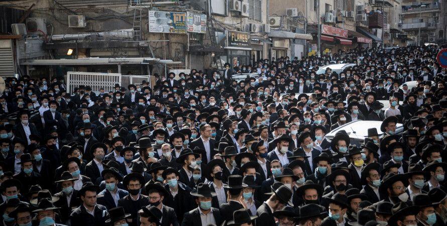 хасиды, коронавирус, Иерусалим, социальная дистанция, нет дистанции
