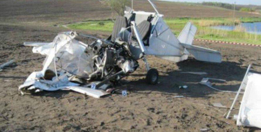 Разбившийся самолет Skyranger / Фото пресс-службы МВД