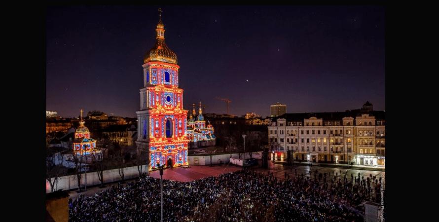 Французская весна, Киев, софийская площадь, фото