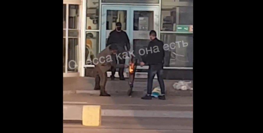 Одесса, аэропорт, пожар