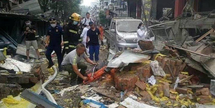 китай, шиянь, взрыв, взрыв газа, рынок, взрыв газа на рынке, взрыв в китае, жертвы, взорвался газ китай, шиянь хубей