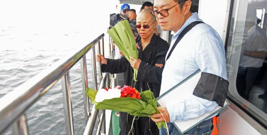 Прах нобелевского лауреата Лю Сяобо развеяли над морем / Фото с сайта life.ru
