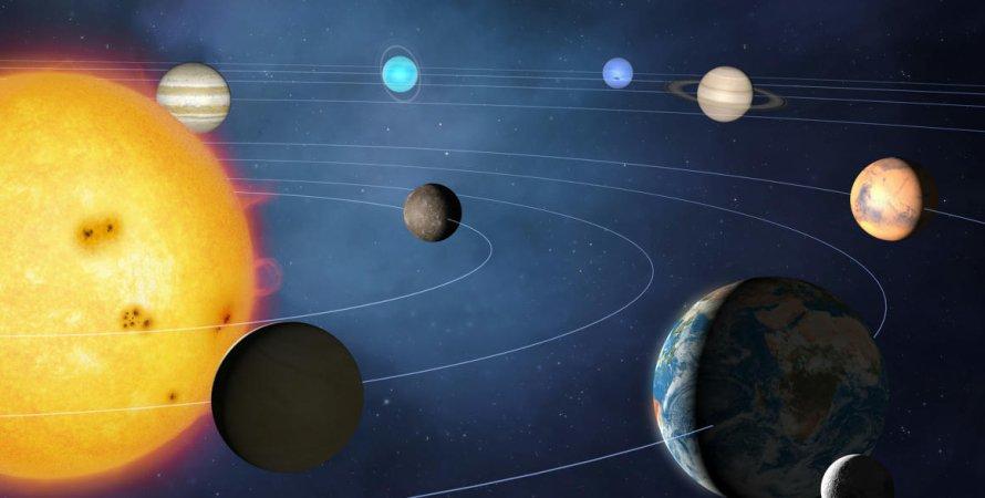 Сонячна система, космос, планети, ілюстрація