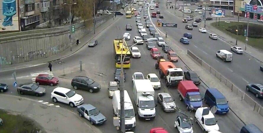 Киев, Индустриальный путепровод, ремонт, транспорт, движение, ограничение,