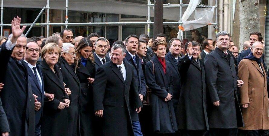 Порошенко с европейскими коллегами в Париже / Фото пресс-службы президента