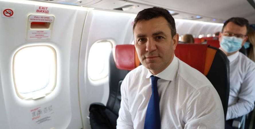 Николай Тищенко, поездка в Ужгород, авиарейс, самолет, слуга народа, закарпатье, закарпатская область