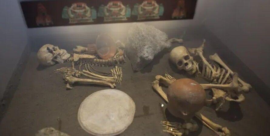 скелети, ацтеки, Мексика