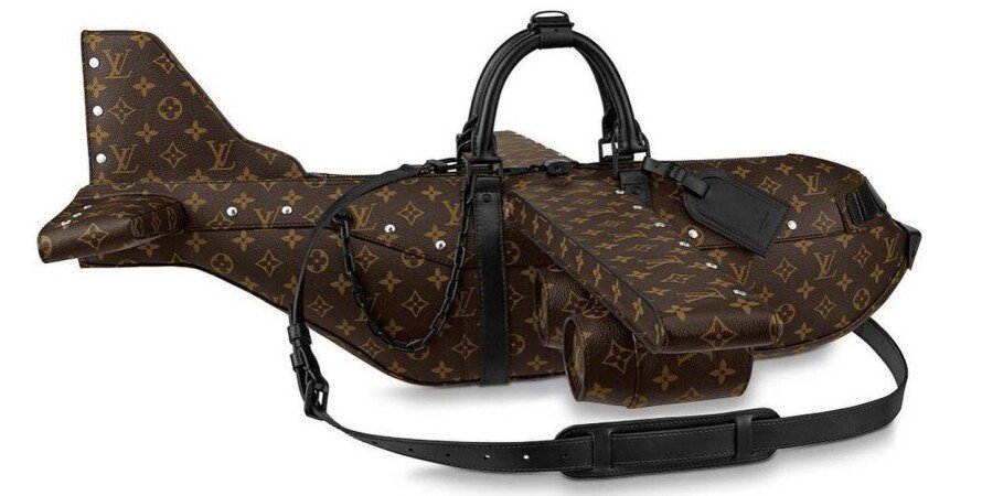 Louis Vuitton, сумка, самолет