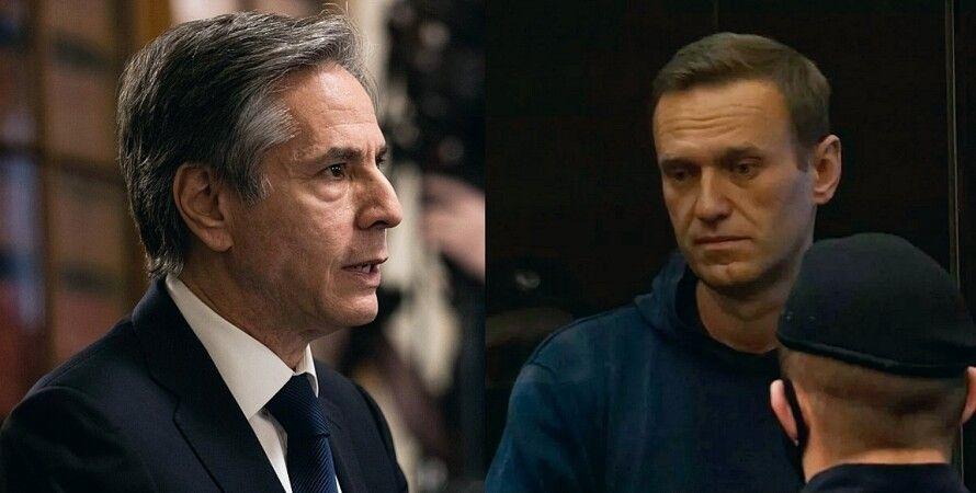 Энтони Блинкен, Алексей Навальный, приговор Навальному, задержание, госдеп США