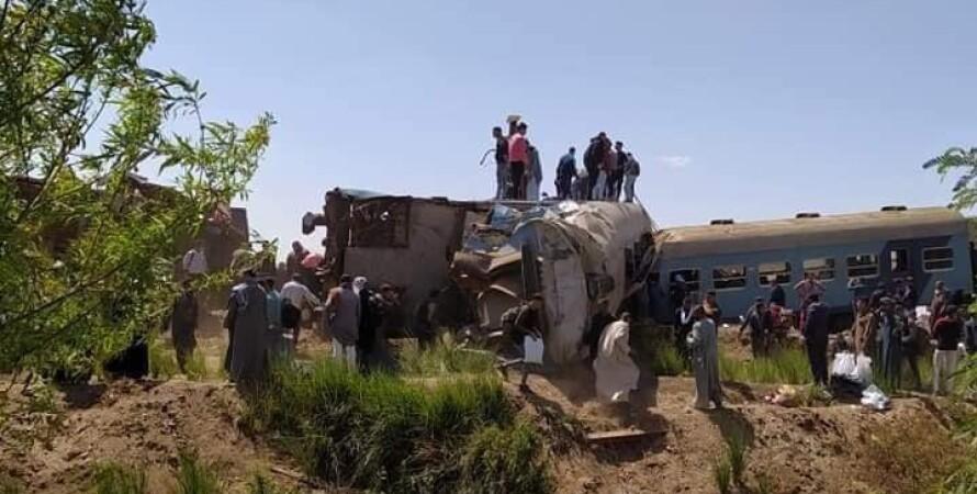 Єгипет, поїзд, аварія поїзда, загиблі, зіткнення поїздів Єгипті, стоп-кран