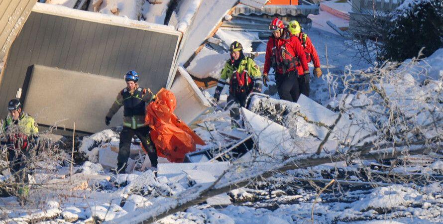 норвегия, гьердрам, оползень, поиск выживших, погибшие