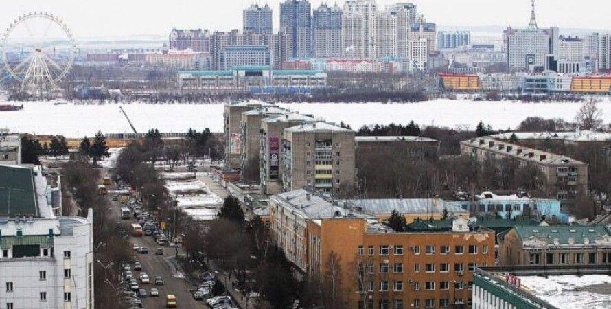 Вид из российского Благовещенска на китайский Хэйхе Фото: nasamoletah.ru