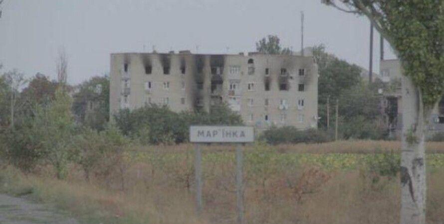 Разрушения в Марьинке / Фото пресс-центра АТО