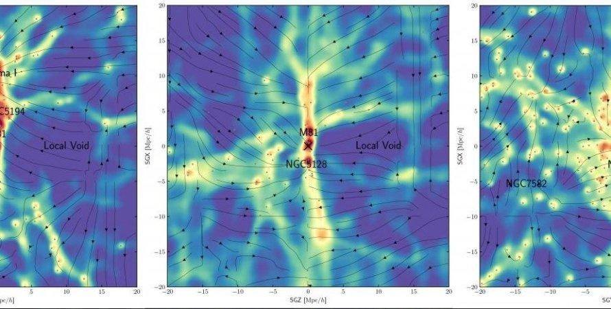 карта темной материи