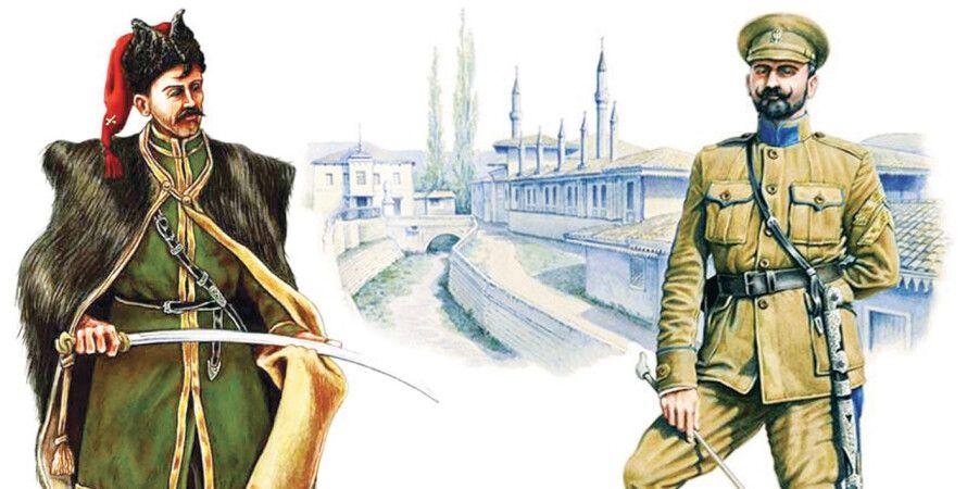 Украинский кавалерист и полковник Пётр Болбочан. Рисунок Богдана Пиргача