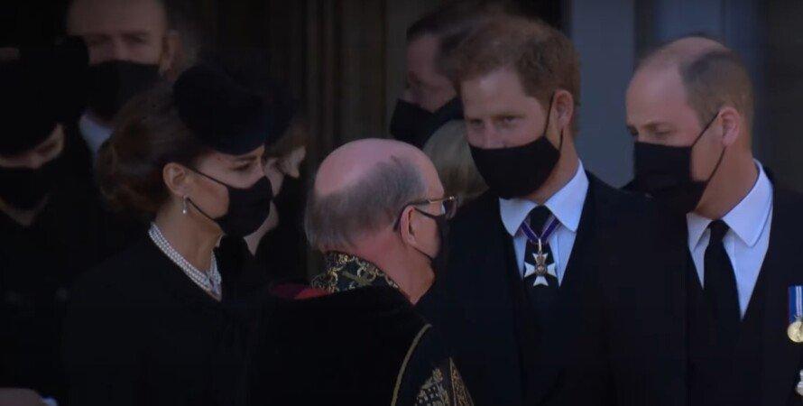 Похорон принца Філіпа, Гаррі, Вільям