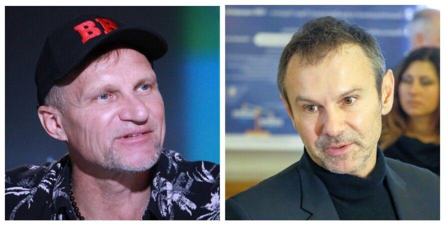 Олег Скрипка, Святослав Вакарчук, интервью, коллаж