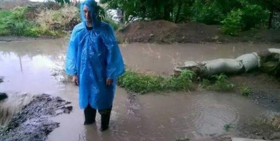 Последствия грозы в Мариуполе / Фото: Facebook