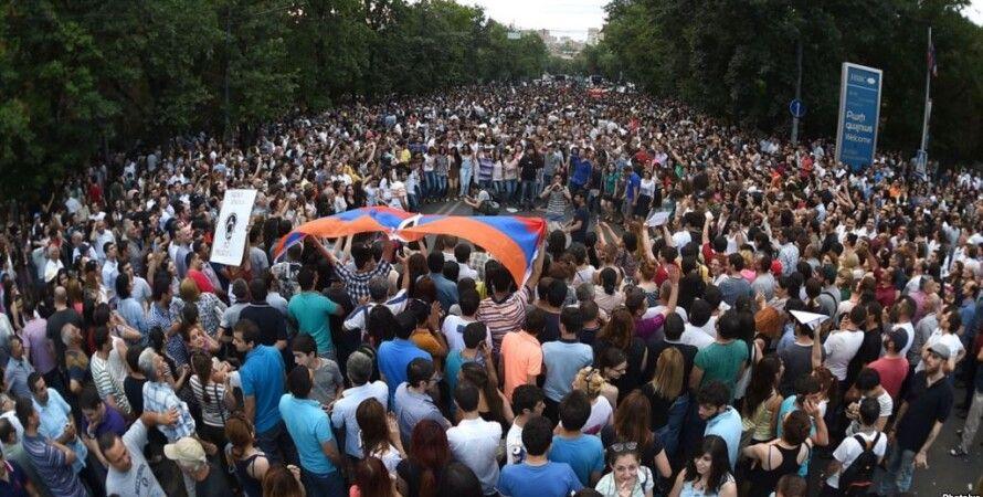"Протестующие в Ереване / Фото: ""Радио свобода"""